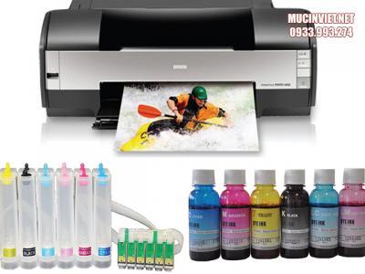Cách bơm mực máy in màu