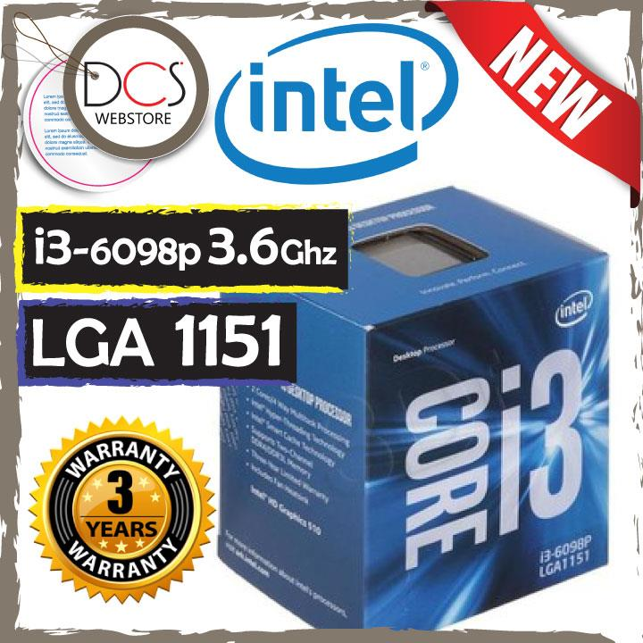 Intel Core i3-6098P Processor  (3M Cache, 3.60 GHz)