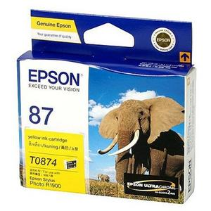 Mực in Epson 87 UltraChrome Hi-Gloss2 - Yellow Ink Cartridge (T087490)