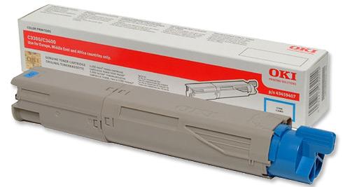 Mực in Oki C3300n/C3400n/C3600n Cyan Toner Cartridge (43459455)