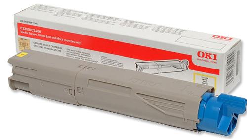 Mực in Oki C3300n/C3400n/C3600n Yellow Toner Cartridge (43459453)
