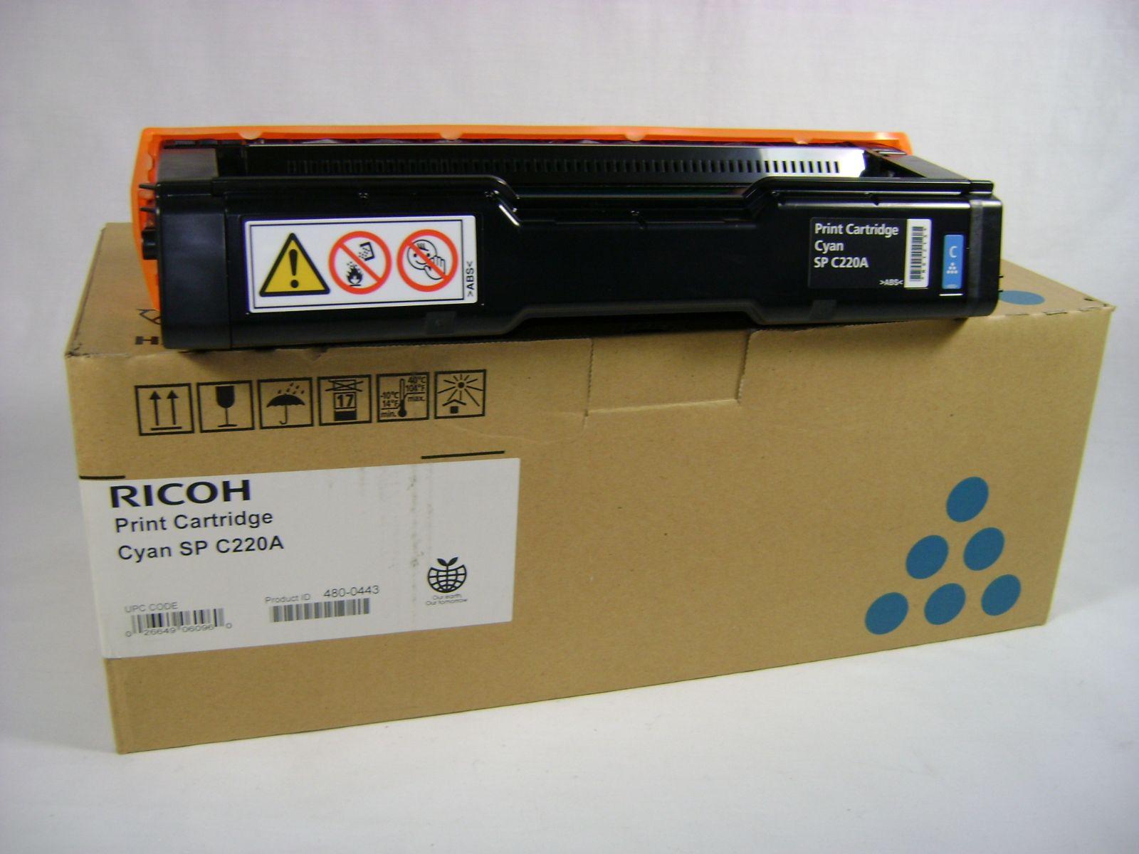 Mực in Ricoh C220S Yellow Toner Cartridge (406062)