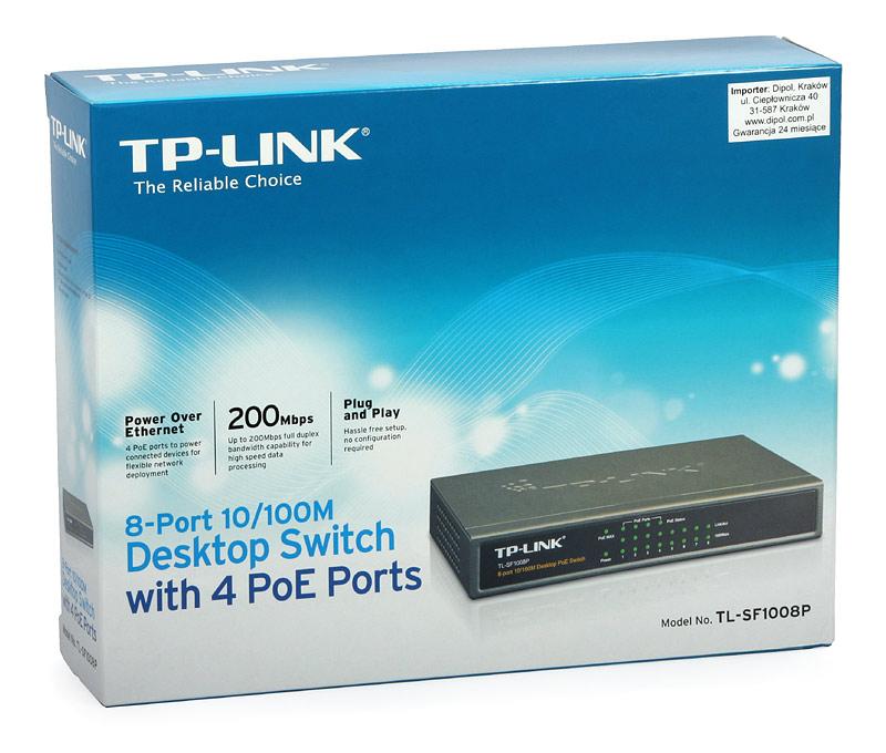 Switch TP-Link TL-SF1008P, Desktop 8 cổng 10/100Mpbs với 4 cổng PoE
