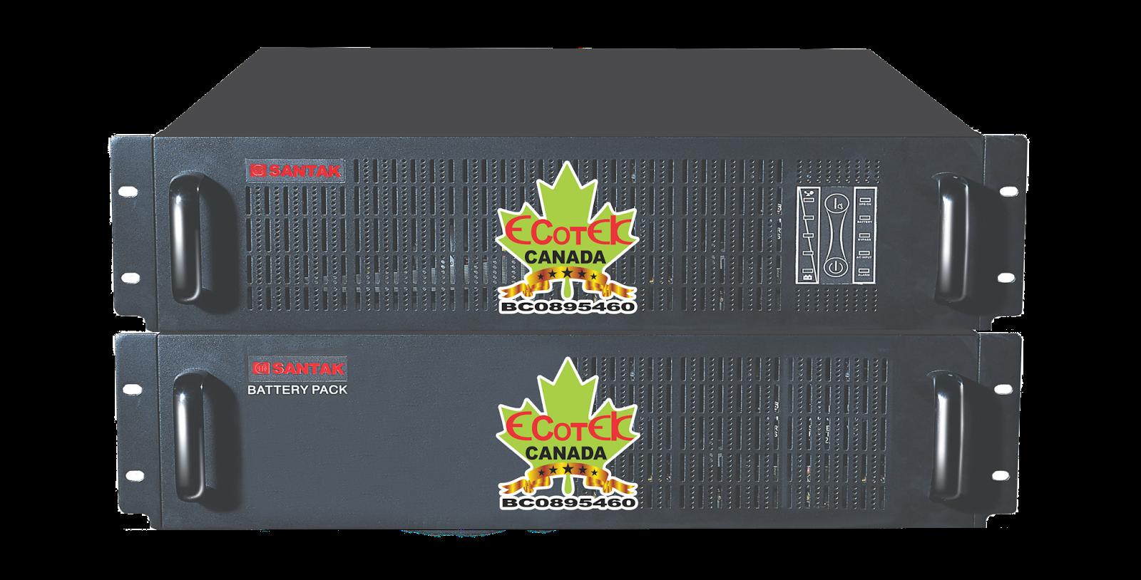 UPS 2000VA SANTAK ONLINE 2KVA–MODEL C2KR