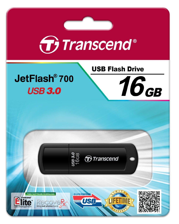 USB 16GB Transcend JetFlash 700 USB 3.0 Flash Drive (TS16GJF700)